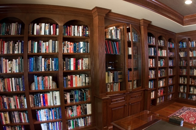 Well Liked Cherry Library Bookcases – Traditional – Living Room – Baltimore Throughout Cherry Bookcases (View 15 of 15)