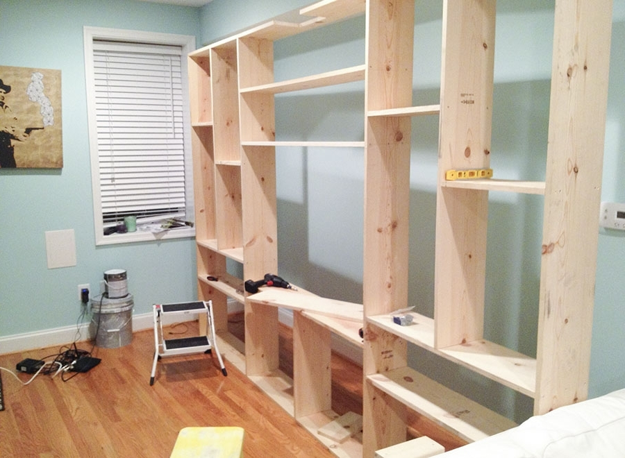Well Liked Diy Custom Built In Bookcases — Little House Big City Pertaining To Build Built In Bookcases (View 5 of 15)