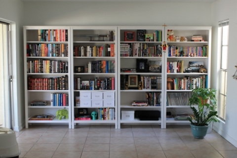 Well Liked Hemnes Bookcases Throughout Hemnes Bookcase Wall After Close – Interior Candy (View 15 of 15)