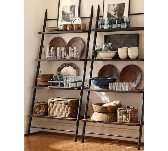 Well Liked Leaning Bookcases Regarding Leaning Bookcase With Bins – Leaning Bookcase Ladder Diy With Some (View 10 of 15)