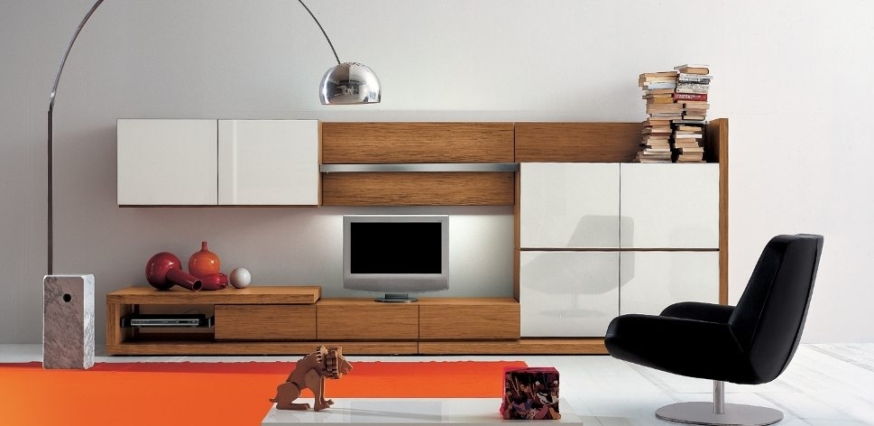 Well Liked Living Room Storage Units Pertaining To Wall Units (View 15 of 15)