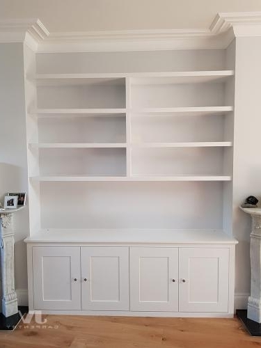 Well Liked Shelves And Cupboards Intended For Fitted Alcove Cupboards And Bookshelves, Bespoke Cabinets (View 14 of 15)