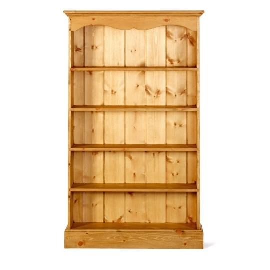 Well Liked Solid Pine Bookcase In Shaker Style Medium Size With Pine Bookcase With Regard To Pine Bookcases (View 15 of 15)