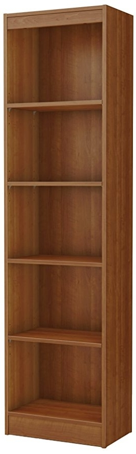 Well Liked South Shore Axess Collection 5 Shelf Bookcases Throughout Amazon: South Shore Axess Collection 5 Shelf Narrow Bookcase (View 11 of 15)