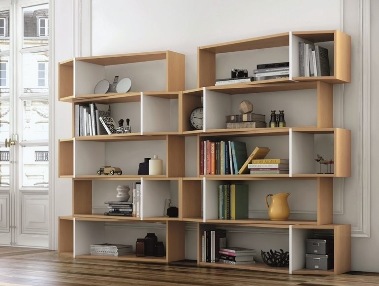 Well Liked Temahome One Modern Flexible Storage Modular Unit For Customized Throughout Contemporary Oak Shelving Units (View 2 of 15)