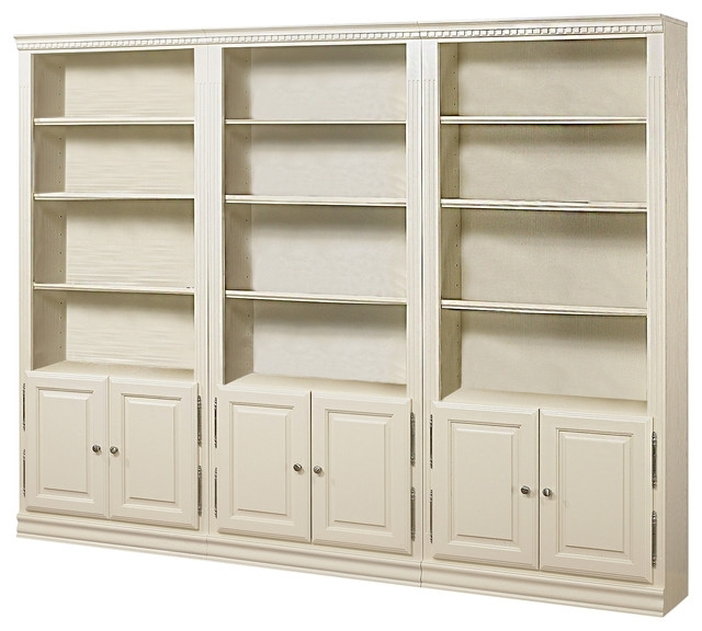 Well Liked Traditional Bookcases Houzz Tall Bookcase With Doors (View 15 of 15)