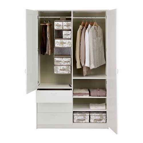 Well Liked Wardrobes Drawers And Shelves Ikea Pertaining To Musken Wardrobe With 2 Doors+3 Drawers Ikea Adjustable Shelves (View 14 of 15)