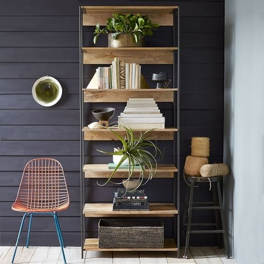 """West Elm Bookcases Intended For Fashionable Industrial Modular 33"""" Bookshelf (View 10 of 15)"""