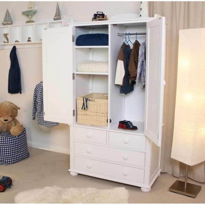 White 2 Door Wardrobe With Drawers Cheap 3 And Mirror Wood This Within Current Wardrobes With Shelves And Drawers (Gallery 3 of 15)