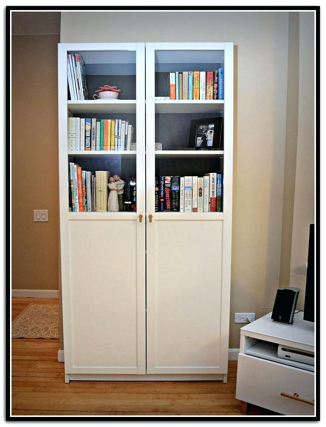 White Billy Bookcases Within Most Recently Released White Bookcase With Doors Ikea Billy Bookcase White With Doors (View 15 of 15)