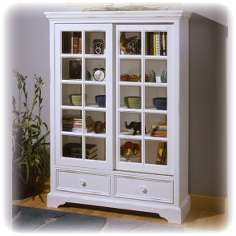 White Bookcases With Doors For Most Current White Bookcase With Doors Images (View 12 of 15)