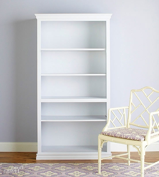 White Bookcases With Regard To Famous Beautiful Bookcase Makeovers (View 13 of 15)