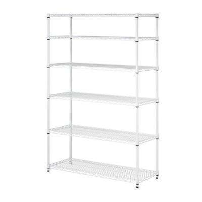 White – Garage Shelving Units – Garage Shelves & Racks – The Home Intended For Favorite White Shelving Units (View 4 of 15)