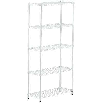 White – Garage Shelving Units – Garage Shelves & Racks – The Home With Most Current White Shelving Units (View 11 of 15)