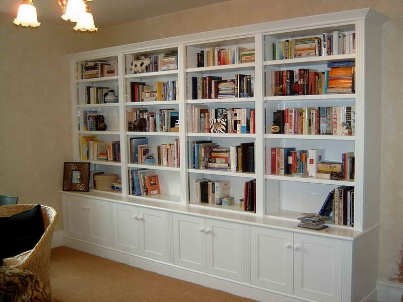 White Library Bookcases Pertaining To Widely Used Home Library Bookcases (View 12 of 15)