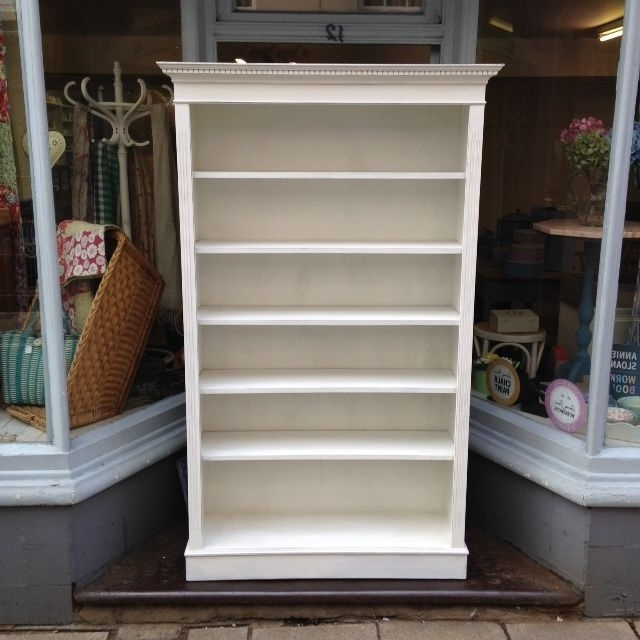 White Painted Bookcases With Regard To 2018 Annie Sloan Painted Bookcase – The Consortium, Vintage Furniture (View 14 of 15)