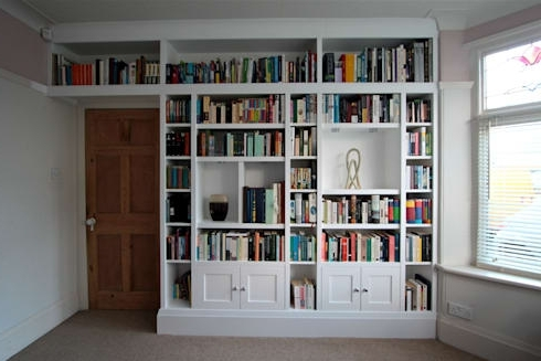 White Painted Wall Shelving And Cupboardfreebird Fitted Inside Popular Fitted Bookshelves (View 15 of 15)