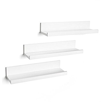 White Wall Shelves In 2018 Amazon: Set Of Three 14 Inch Floating Wall Shelves (View 13 of 15)