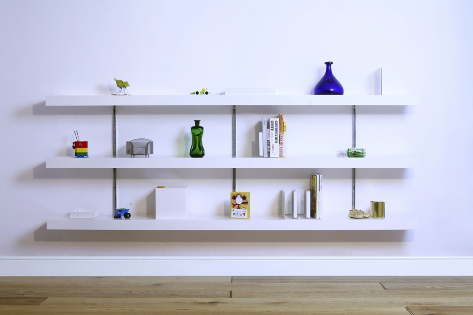 White Wall Shelves With Latest White Wall Shelf Floating Shelves Home Tiles – Golfocd (View 15 of 15)