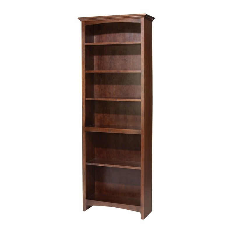 "Whittier Wood Mckenzie Bookcase Collection – 24"" Wide With Recent 36 Inch Wide Bookcases (View 12 of 15)"