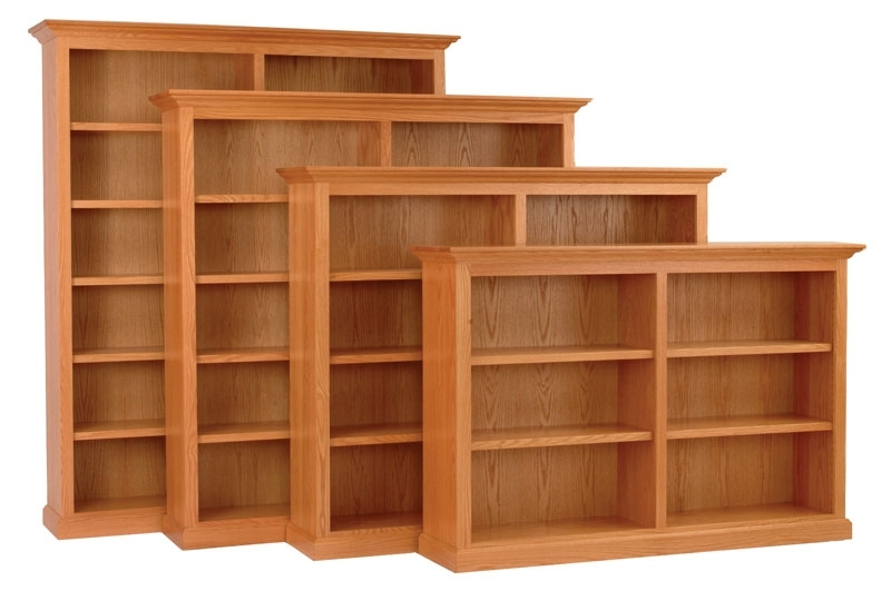 Wide Bookcases In Popular Executive Horizontal Bookcase In Solid Hardwood – Ohio Hardwood (View 9 of 15)