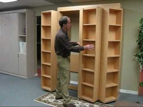 Widely Used Bookcase Bed Video (No Music) – Youtube Regarding Bifold Bookcases (View 15 of 15)