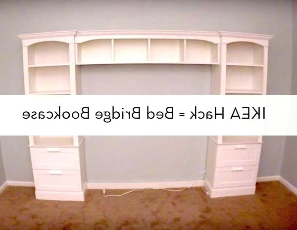 Widely Used Bookcases Headboard Regarding Diy Bookcase Headboard How To Build A Bed Bridge Bookcase Using (View 15 of 15)