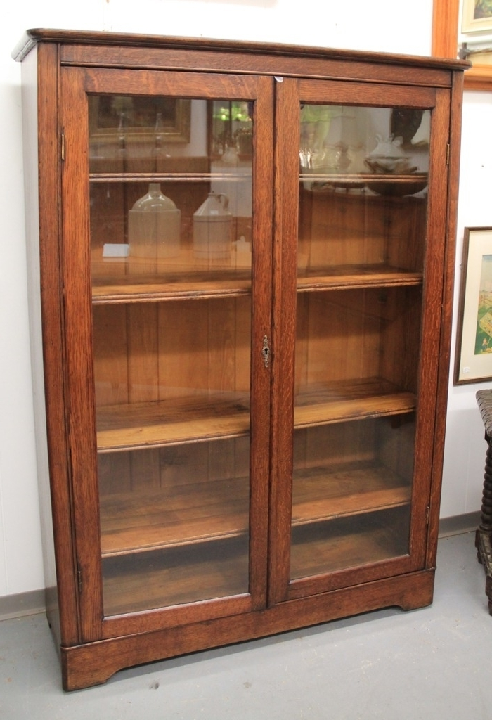 Widely Used Bookcases With Glass Doors With Regard To Attractive Found In Ithaca Mission Oak Glass Door Bookcase Sold (View 15 of 15)