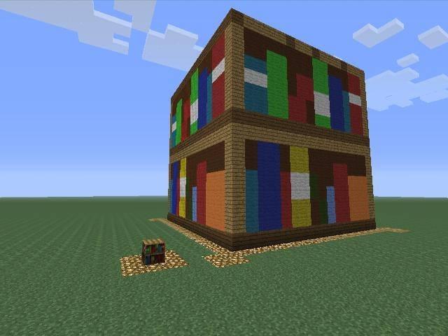 Widely Used Bookshelf: Inspiring Design Bookcases Minecraft Minecraft With Minecraft Bookcases (Gallery 5 of 15)