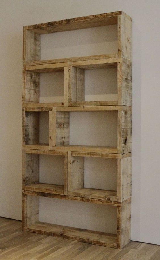 Widely Used Diy Rustic Bookcase! This Is So Simple Yet Effective (View 15 of 15)