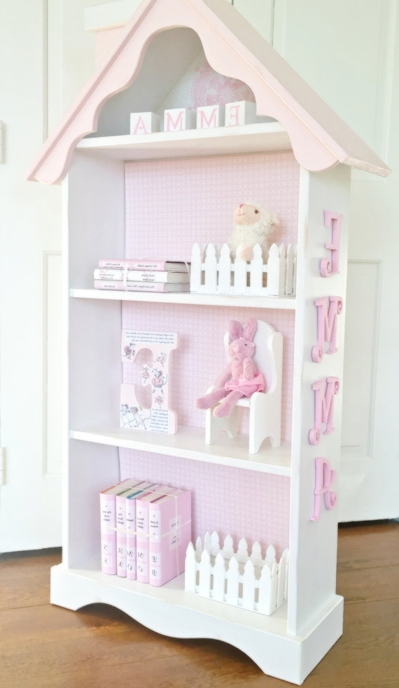 Widely Used Dollhouse Bookcases Regarding Charming Cottage Dollhouse Bookcase, Custom Children's Bookcase (View 15 of 15)