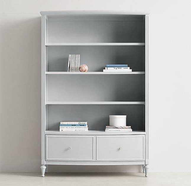 Widely Used Grey Bookcase (View 7 of 15)