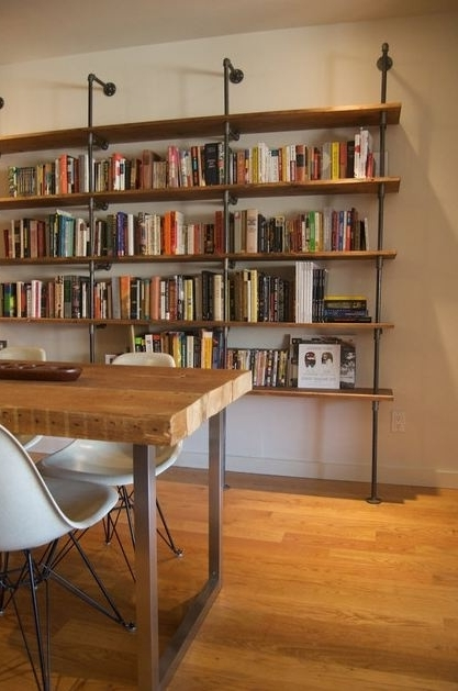 Widely Used Industrial Bookcases Within 32 Best Industrial Pipe Shelving Images On Pinterest (View 15 of 15)