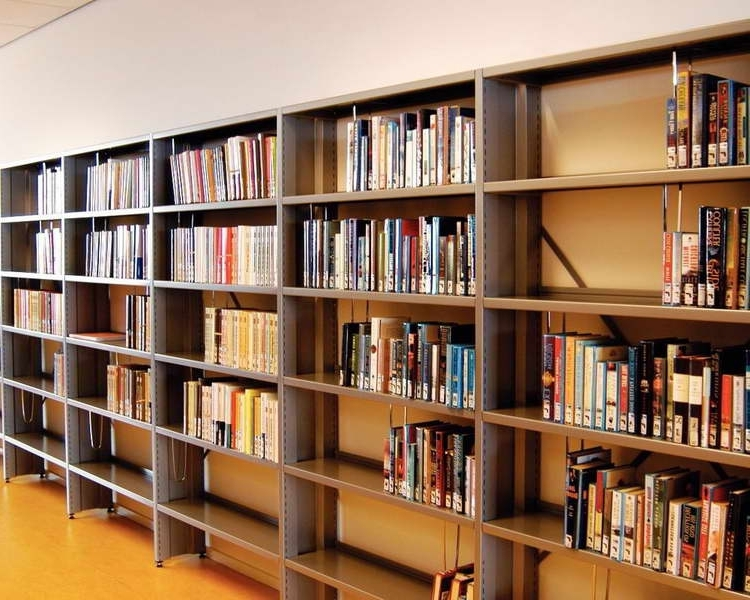 explore gallery of library shelves for home showing 6 of 15 photos rh jsourcery com used library shelving units used library shelving for sale near me