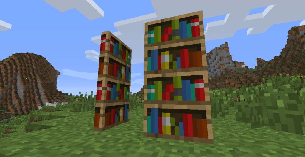 Widely Used Minecraft Bookcases Pertaining To Reactioncraft Better Bookcases 1. (View 14 of 15)