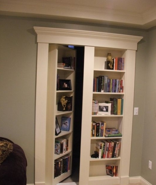 Widely Used Secret Door Bookcases Pertaining To Bookshelf Door Kit — All Home Design Solutions : Bookshelf Cabinet (View 6 of 15)