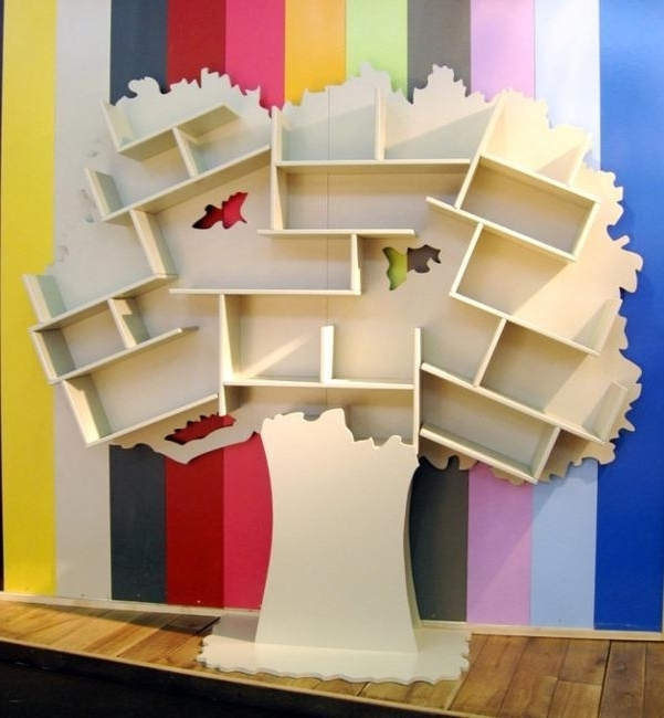 Widely Used Tree Shaped Bookcases Adding Interest To Kids Room Decorating Intended For Tree Bookcases (View 15 of 15)