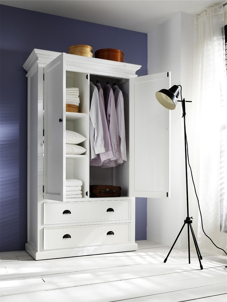 Widely Used Wardrobes With Drawers And Shelves Within Belgravia Painted Double Wardrobe With Drawers (View 9 of 15)