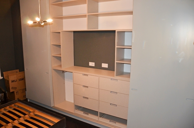 With Tv Space Intended For 2017 Built In Wardrobes With Tv Space (View 15 of 15)