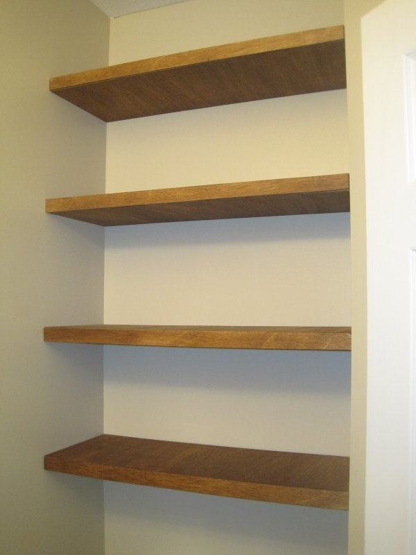 Wood For Shelves Pertaining To Well Known Floating Shelf Pictures And Ideas (View 5 of 15)