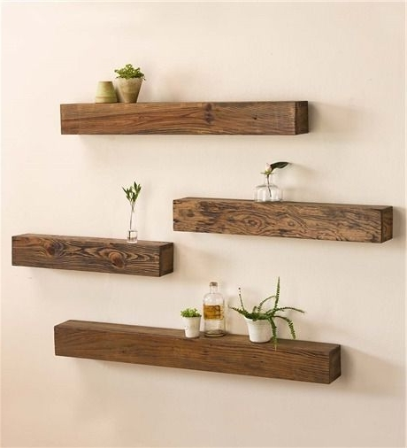 Wood Shelves For Walls Best 25 Wooden Wall Shelves Ideas On In Fashionable Wooden Wall Shelves (View 8 of 15)