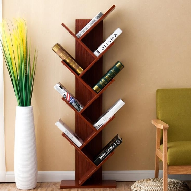 Wooden Bookshelves Regarding Most Popular New Design Detachable Modern Tree Shaped Wooden Bookshelf – Buy (View 12 of 15)
