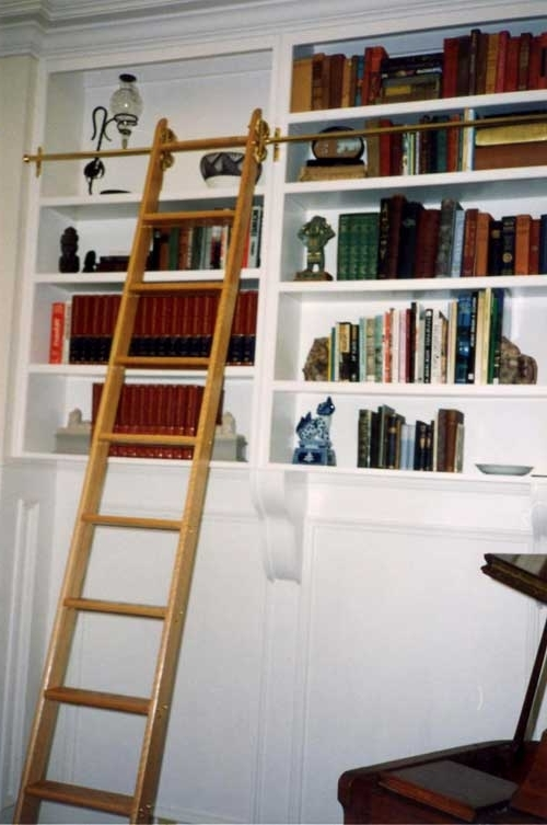 Wooden Library Ladders Regarding Most Up To Date Specialty Ladder: Library Ladders (View 5 of 15)