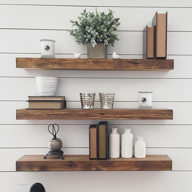 Wooden Wall Shelves Pertaining To Fashionable Best 25+ Floating Shelves Ideas On Pinterest (View 11 of 15)
