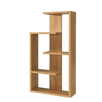 Worldstores Alberta Oak Display Unit – Shelving Unit – 4 Large In Well Known Contemporary Oak Shelving Units (View 7 of 15)