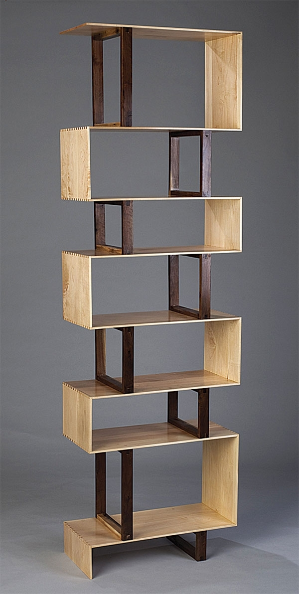 Zigzag Bookshelf – Finewoodworking Regarding Popular Zig Zag Bookcases (View 15 of 15)