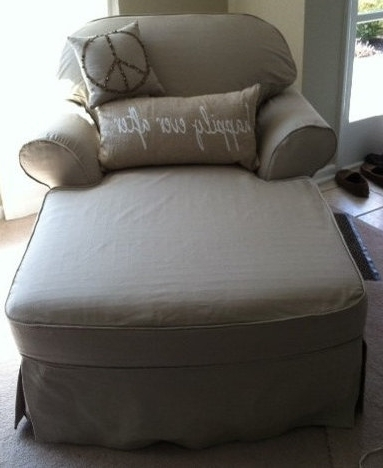 1 Cushion Chaise Lounge Slipcover Custom Made To Fit Inside Widely Used Chaise Slipcovers (View 1 of 15)