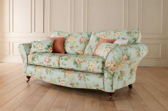 12 Floral Pattern Sofa Designs U2013 Rilane Inside Most Up To Date Floral Sofas  And Chairs