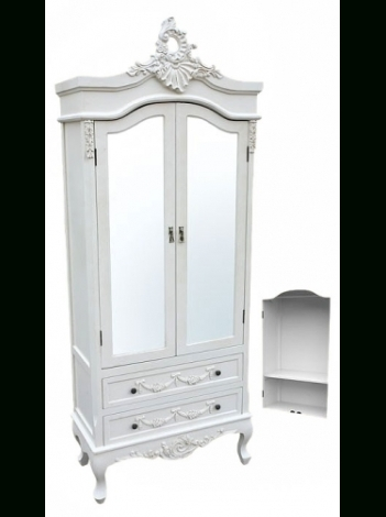 15 Photos White Wardrobes Armoire With Most Recent Antique White Wardrobes (View 1 of 15)