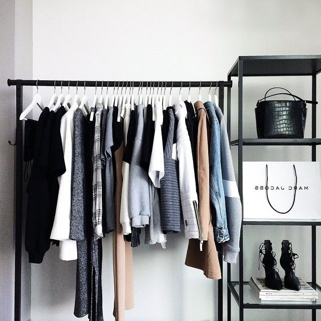 187 Best Home: Walk In Closet Images On Pinterest Inside Best And Newest Double Up Wardrobes Rails (View 1 of 15)